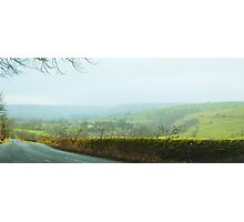 Foggy English Hills Photographic Print