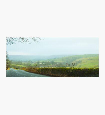 Foggy English Hills Photographic Print
