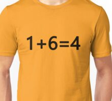 """1+6=4"" TShirt - ONE PIECE (Luffy) Unisex T-Shirt"