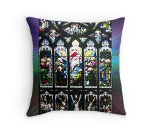 Leadlight Window, St Giles Cathedral, Edinburgh Throw Pillow