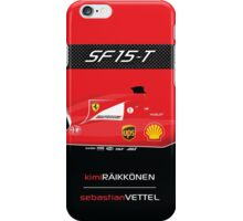 2015 Formula 1 Scuderia Ferrari SF15-T with carbon fiber bar iPhone Case/Skin