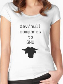 dev/null compares to GNU Women's Fitted Scoop T-Shirt