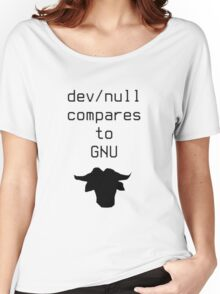 dev/null compares to GNU Women's Relaxed Fit T-Shirt