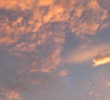Portfolio: Sunset and glowing clouds, Koloko, Big Island Sticker
