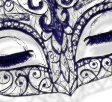 Masquerade Ball Mask Sticker