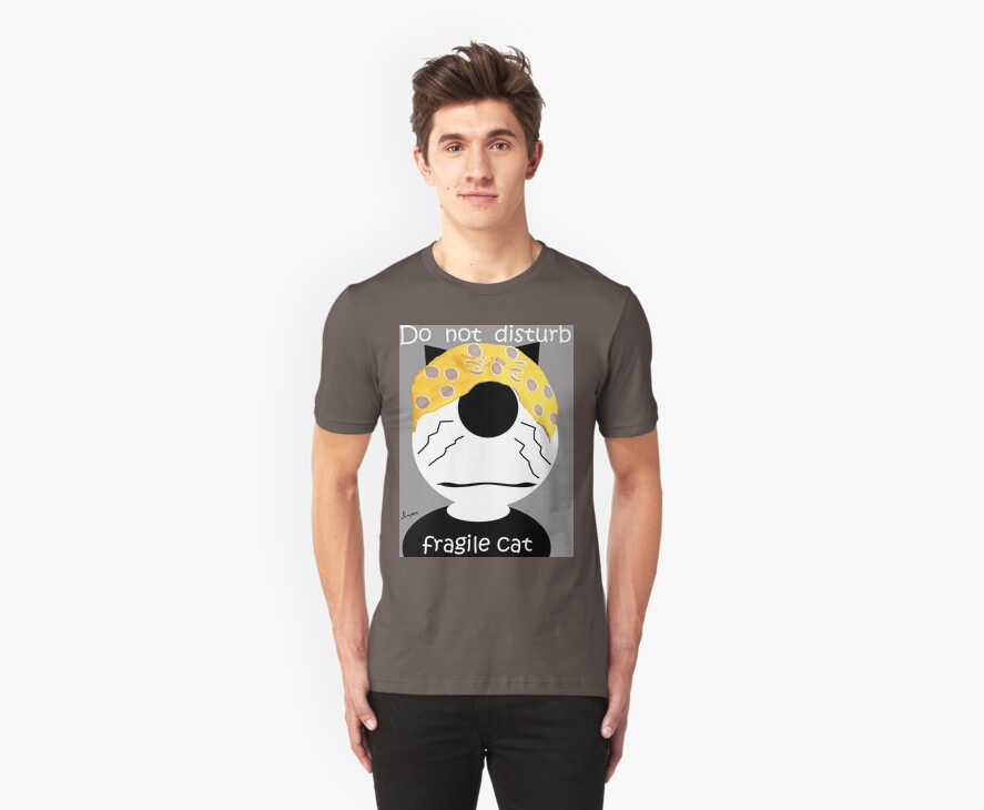 Do Not Disturb Cat T-Shirt by simpsonvisuals