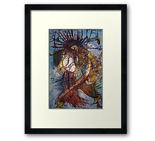 Warfare Dancer Fight! Framed Print