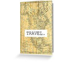 TRAVEL. Greeting Card