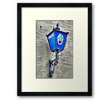 The Blue Lamp Framed Print
