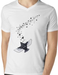 A Murmuration of Starlings Mens V-Neck T-Shirt