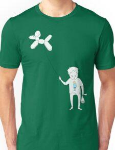 Dog balloon boy (vectors) Unisex T-Shirt