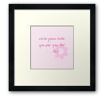 Pop-u-ler... lar. Framed Print
