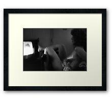 Toe Remote Framed Print