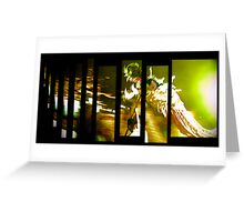 Dragon in Abstract Greeting Card