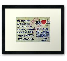 Valentine Postcard  Framed Print
