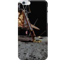 Apollo 17 : Panoramic Digital Painting of the Moon Landing iPhone Case/Skin