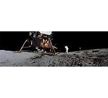 Apollo 17 : Panoramic Digital Painting of the Moon Landing Photographic Print