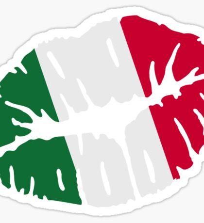 Italy kiss flag Sticker