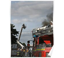 Fire fighting from a platform  Poster