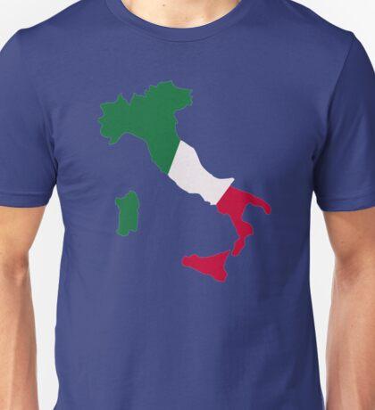 Italy map flag Unisex T-Shirt