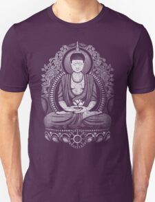 Gautama Buddha White Halftone Distressed T-Shirt