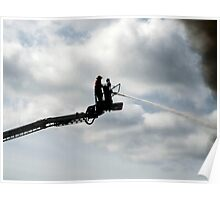 Platform fire fighter Poster