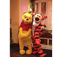 Pooh & Tigger Photographic Print