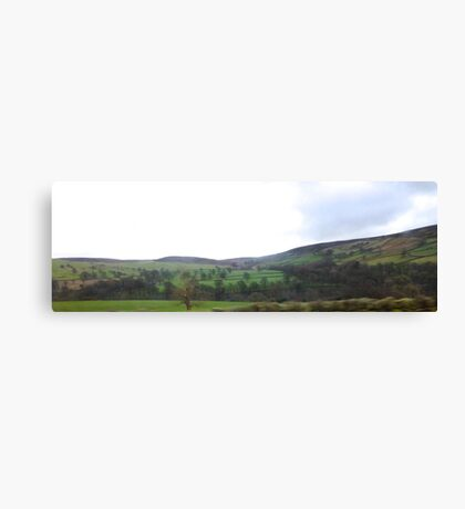 Rolling Fields in Yorkshire UK Canvas Print
