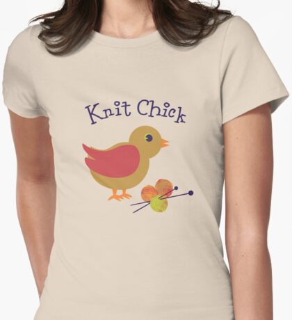 Knit Chick Womens Fitted T-Shirt