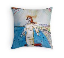 Demoiselle De La Mer Throw Pillow