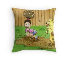 Dirty Daisy Throw Pillow