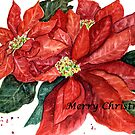 Christmas Poinsettia by LinFrye