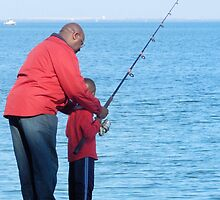 Fishing Lesson by Kathleen Brant