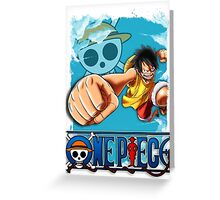 One Piece - Luffy Greeting Card