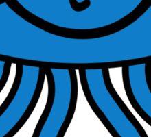 Blue comic jellyfish Sticker