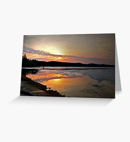 Tangerine Sunset  Greeting Card