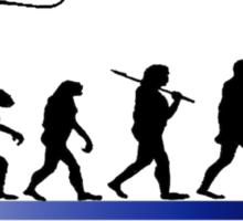 Evolution of fisherman Sticker