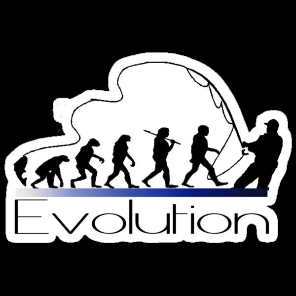 Evolution of fisherman by Mundy Hackett