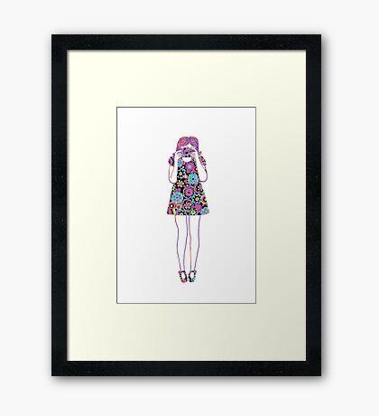 Camera Girl Framed Print