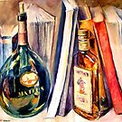Bottles And Books — Buy Now Link - www.etsy.com/listing/223668554 by Leonid  Afremov