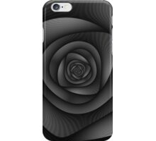 Spiral Labyrinth in Monochrome iPhone Case/Skin
