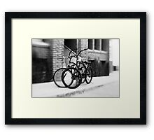 Bicycles #1 Framed Print