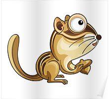 Cartoon Chipmunk Character Poster