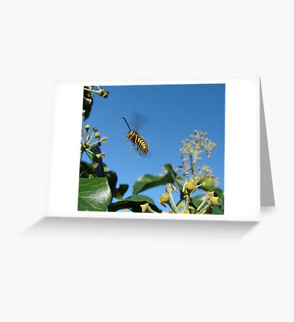 Black & Yellow Helicopter Greeting Card