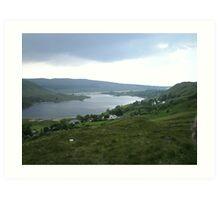 lough Altan  County Donegal Ireland Art Print
