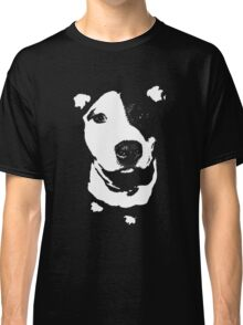 Louie - Black and white pit bull Classic T-Shirt