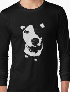 Louie - Black and white pit bull Long Sleeve T-Shirt