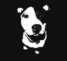 Louie - Black and white pit bull Womens Fitted T-Shirt