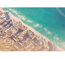 miami from the air Photographic Print