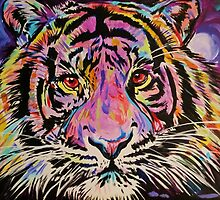 Pop Art Tiger Eyes by JohnPaulSneed